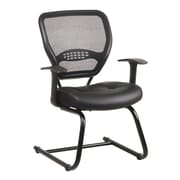 Space Seating Professional AirGrid Back Visitors Chair with Eco Leather Seat