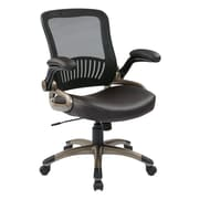 Work Smart Screen Back Managers Chair Leather, Espresso