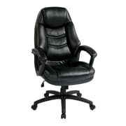 Work Smart Leather Executive Chair, Black