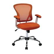 Ave Six Office Star Juliana Task Chair In Orange Mesh