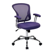 Office Star JUL26-512 Ave Six Mesh High-Back Task Chair with Fixed Arms, Purple