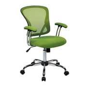 Office Star JUL26-6 Ave Six Mesh High-Back Task Chair with Fixed Arms, Green