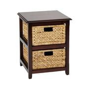 "OSP Designs Seabrook Storage Unit Wood 21.25"" x 16.5"""