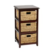 "OSP Designs Seabrook Storage Unit Wood Storage Unit, 29.75"" x 16.5"""