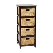"OSP Designs Seabrook Storage Unit Wood Storage Unit, 38.5"" x 15.5"""