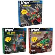 """K'NEX Plastic Robo Strike, Robo Smash & Robo Sting Building Sets 9"""" x 2"""""""