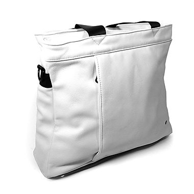 PKG 'Swollen' Universal Laptop Carry Case, Faux Cow Leather, White