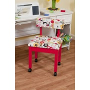 Arrow Sewing Side Chair; Red
