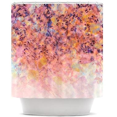 KESS InHouse Blushed Geometric Shower Curtain