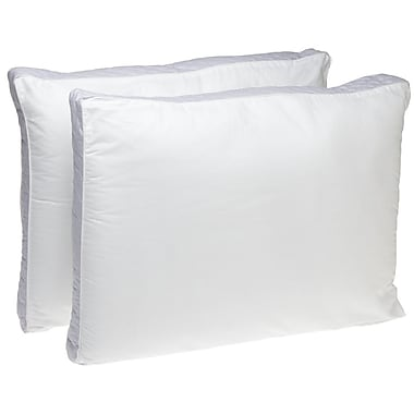 Perfect Fit Industries Extra Firm Density 233 TC Quilted Sidewall Polyfill Pillow (Set of 2); Queen
