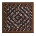 Patch Magic Dusty Diamond Log Cabin Cotton Shower Curtain
