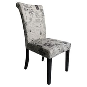 Monsoon Pacific Voyage Parsons Chairs (Set of 2); Black Linen
