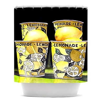 KESS InHouse Lemonade Shower Curtain