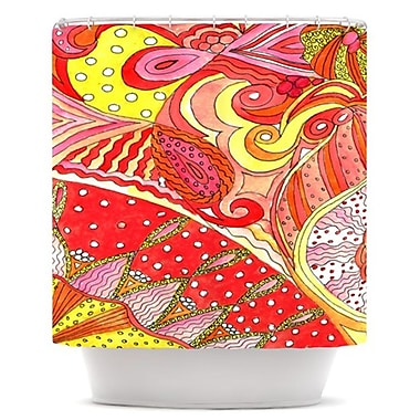 KESS InHouse Swirls Shower Curtain