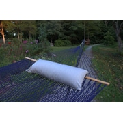 Twin Oaks Hammocks Sunbrella Hammock Bolster Pillow; Granite