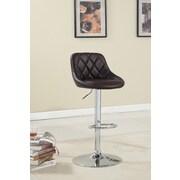 Hokku Designs Bellenia Adjustable Height Swivel Bar Stool with Cushion; Dark Brown