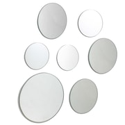 Nexxt FN50032-9INT Multiple Size Round Frameless Wall Mirror, Set of 7