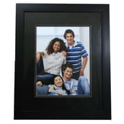 Nexxt PN00263-1FF Black Wood 23.2 x 19.2 Picture Frame, Black Mat