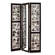 "Nexxt PN18734-6 Brown Wooden 64"" x 42"" Triple Panel Photo Frame"