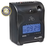 Acroprint ACP010270000 Biometric Fingerprint Time Clock, Black/Red