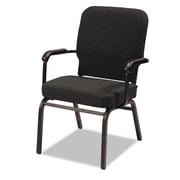 Alera® Oversize Olefin Fabric Stack Chair With Arms, Black