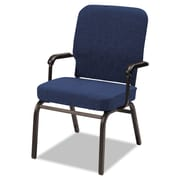Alera® Oversize Olefin Fabric Stack Chair With Arms, Navy