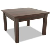 "Alera® Valencia Series 23 5/8"" Square Occasional Table, Mahogany"