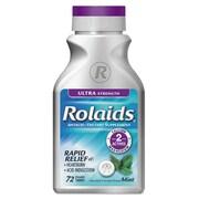 Rolaids® Ultra Strength Tablet For Heartburn, Mint Flavor, 24/Pack