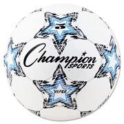 Champion Sports VIPER Size 5 Soccer Ball, White