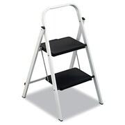 Louisville® 2 Step Folding Stool, 200 lbs., Black/White