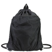 Eastsport® Front Mesh Pocket Drawstring Cinch Sack, Black