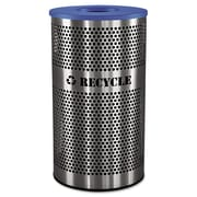 Ex-Cell Stainless Steel Recycle Receptacle, 33 gal, Stainless Steel