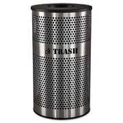 Ex-Cell Stainless Steel Trash Receptacle, 33 gal
