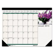 House of Doolittle 2016 Floral Photographic Monthly Desk Pad Calendar