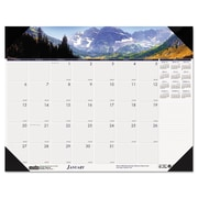 House of Doolittle 2016 Mountains of the World Photographic Monthly Desk Pad Calendar