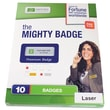 The Mighty Badge Name Badge Refill Kit, Silver, Inkjet