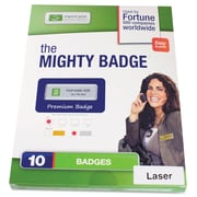 The Mighty Badge Name Tag Refill Kit, Silver, Laser
