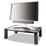 Kantek Wide Two-Level Height-Adjustable Stand, Black