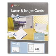 "Maco® 3"" x 5"" Unruled Index Cards, White, 150/Box"