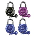 Master Lock® Set-Your-Own Combination Padlock, Black/Blue/Green/Pink