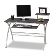 "Mayline® 34"" x 47 1/4"" Eastwinds Vision Laminated Computer Desk, Anthracite/Silver"