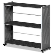 "Mayline® Eastwinds™ Accent Shelving With 3-Shelves, 31"" x 31 1/4"" x 11"", Anthracite/Metallic Gray"