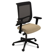 Mayline® Commute Mesh Back Fabric Task Chair, Expo Latte/Black