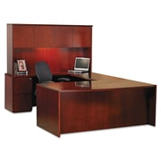 Mayline® Luminary Series Wood Veneer Hutch, Cherry