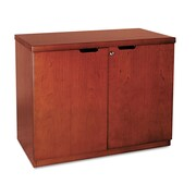 "Mayline® Mira 29 1/2"" x 36"" Veneer Hinged Door Credenza, Medium Cherry"