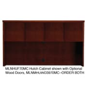 "Mayline® Mira 39"" x 72"" Veneer Assembled Hutch Frame, Medium Cherry"