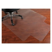 "Mammoth Office Products® PVC Chair Mat For Hard Floors, 45"" x 53"", Clear"