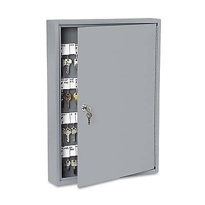 SecurIT Locking Key Cabinet, 100-Key, Steel, Gray, 16 1/2 x 3 x 22 1/2 PMC04984
