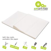 Smart Fab® Disposable Fabric Sheet, 12 x 18, White