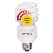 Havells 20 W T4 Mini Lynx Spiral Compact Fluorescent Light Bulb, Soft White